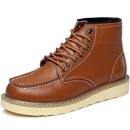 Wangxyan Martrin Boots Uomo Stivaletto Alto in Pelle Stivaletto Allacciato in Pelle Stivali da Lavoro per Esterni Scarpe Classiche da Londra Stivale Traspirante da Deserto,Brass,41