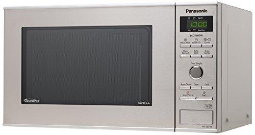 Panasonic NN-GD37HSGTG Mikrowelle / 35.3 cm / Aqua Clean Programm / edelstahl / schwarz