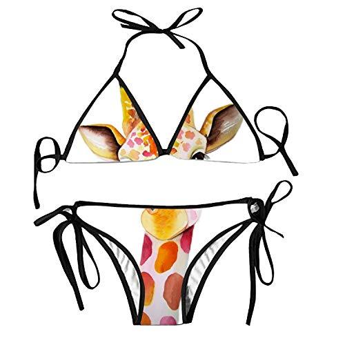 Women's Bathing Swimsuits Adjustable Strap Blue Tribal Pattern Bikini Set Two Pieces Swimwear (Beute Rakete)