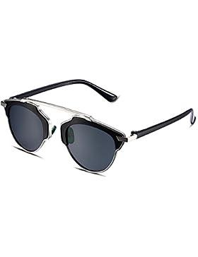 NYKKOLA polarizadas para mujer gafas de sol para esquí y conducción Golf ciclismo running Metal Cateye Gafas,...