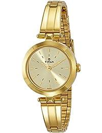 Titan Analog Beige Dial Women's Watch-2574YM01