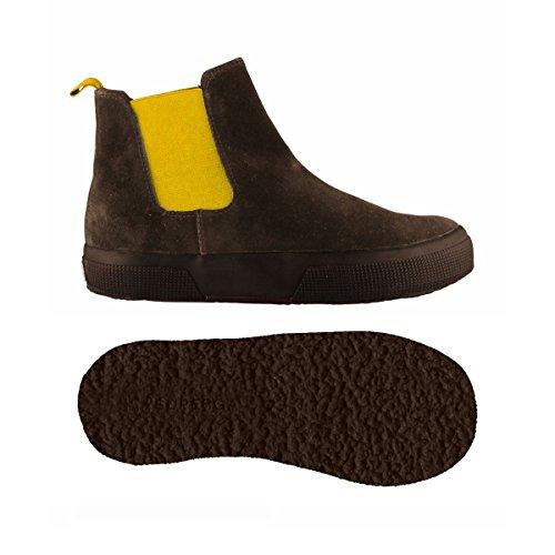 Stivaletti - 2318-suej - Bambini - DkChocolate-Yellow - 35