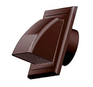 Air Vent Grill Cover Gravity Flap Ducting 100mm Brown