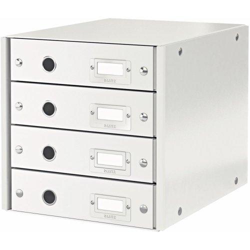 Leitz, Schubladenbox, Weiß, 4 Schubladen, A4, Click & Store, 60490001