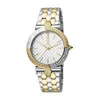 Just Cavalli Animalier Women's Silver Dial Stainless Steel Analog Watch - JC1L105M0105