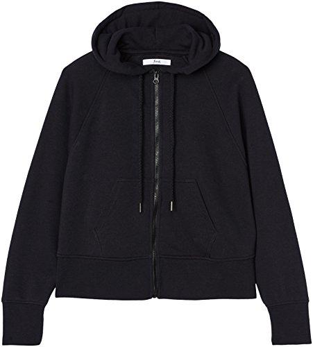 FIND Damen Kapuzenpullover mit Reißverschluss Schwarz (Black), 38 (Herstellergröße: Medium) - 4