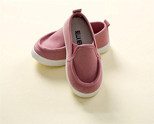 ALUK- Chaussures De Bébé Sports Casual Chaussures De Toile Version Coréenne De Simple Confort ( couleur : Rose , taille : 27 ) Rose