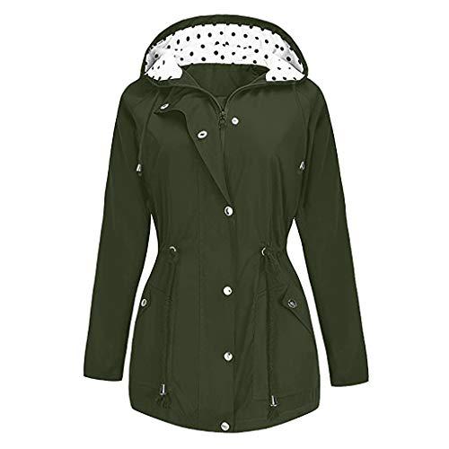 MDenker Damen Kleider Winterjacke Wasserfester Regenmantel Kapuzen Regenjacke Frauenjacke Outdoor Windfester Mantel Allwetterjacke Windbreaker Übergangsjacke Große Größen