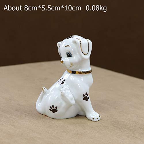 Hündchen Miniatur Keramik Hündchen FigurBastelgeschenk 5tlg ()