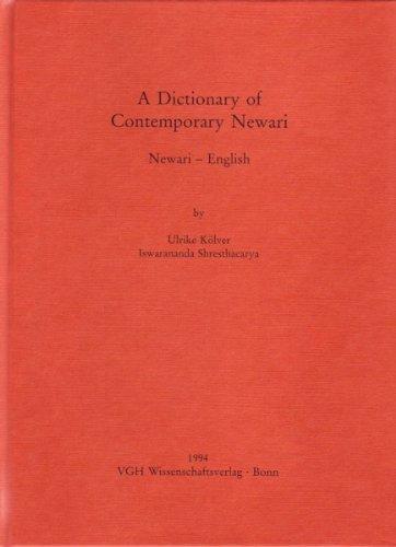 A Dictionary of Contemporary Newari: Newari-Engl.