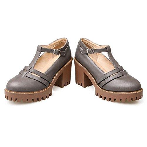 Coolcept Femmes Talons Bloc Escarpins Chaussures gray