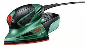 Bosch DIY Multischleifer PSM 100 A, 3 Schleifblätter K 80/ K 120/ K 160, Koffer (100 W, Schwingzahl 26.000 min-1, Schwingkreis-Ø 1,4 mm)