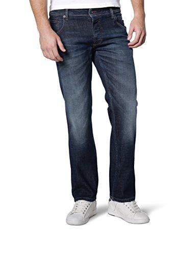 Mustang - Regular Fit - Herren 5-Pocket Jeans, Medium rise, 2 Farben - Michigan Straight (3135-5111), Größe:W38/L34;Farbe:Dark rinse used (593) -