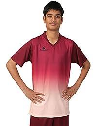 Triumph Men's Polyester Soccer Maroon V Neck Uniform