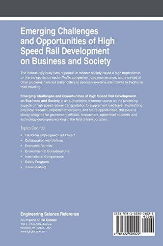 Emerging Challenges and Opportunities of High Speed Rail Development on Business and Society (Advances in Civil and Industrial Engineering)