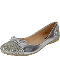 e5ff0b9bf200 Silver Women s Ballet Flats  Buy Silver Women s Ballet Flats online ...