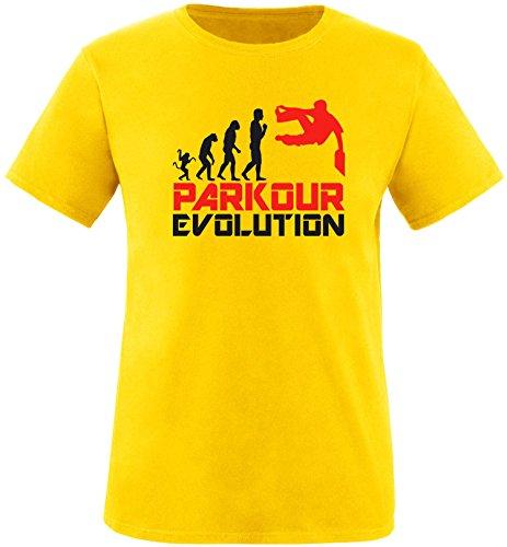 EZYshirt® Parkour Evolution Herren Rundhals T-Shirt Gelb/Schwarz/Rot