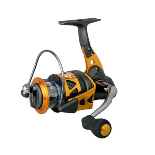 Okuma Trio High Speed Spinnrolle schwarz/orange, Unisex-Erwachsene, Trio High Speed, Blk/Orange, Small