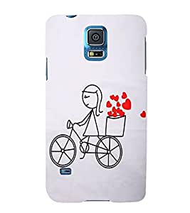 FUSON Love Card Design Cycle 3D Hard Polycarbonate Designer Back Case Cover for Samsung Galaxy Grand Neo I9060 :: Samsung Galaxy Grand Lite