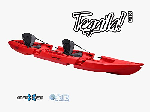 Point 65 Tequila Sit On Top Kayak Tandem rosso