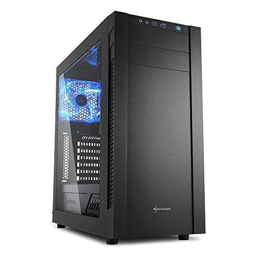 Sharkoon S25-W Midi-Tower Black computer case - computer cases (Midi-Tower, PC, Acrylic, Metal, ATX,Micro-ATX,Mini-ITX, Black, 16.7 cm)