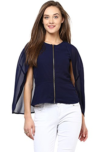 Miss Chase Women's Cape Top (MCAW15TP02-74-71_Navy_X-Small )
