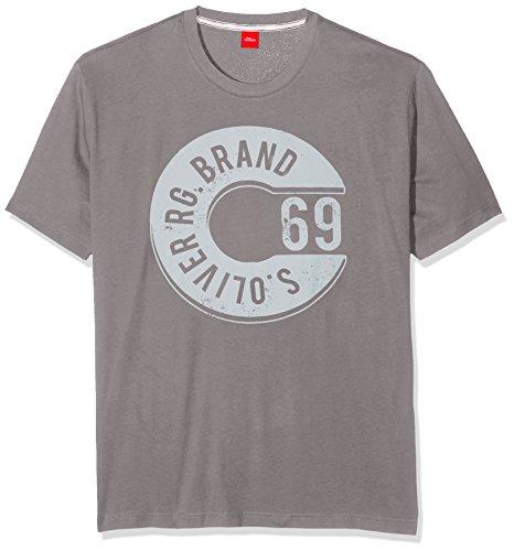 s.Oliver Herren T-Shirt 15707328837, Grau (Fresco Grey 9309), XXX-Large