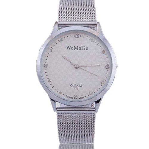 New Womage Marke Uhr Frauen Lady Mädchen Luxus Kristall superdünn Rose Golden Quarzuhr Vintage Kleid reloj relogio (Kinder Kleid Eingefroren)