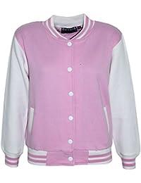A2Z 4 Kids® Kinder Mädchen Jungen BASEBALL JACKE VARSITY Stil Mode Einfach SCHULE JACKEN TOP Alter 5 6 7 8 9 10 11 12 13 Jahren