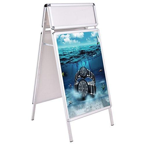 Kundenstopper Werbeaufsteller Plakatständer Werbetafel Werbeträger Alu A1 mit Topschild
