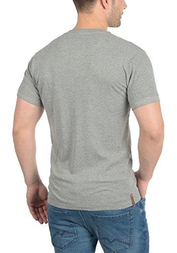 Solid Toki Herren T-Shirt Kurzarm Shirt mit Waffelstruktur und Grandad- Ausschnitt Aus !