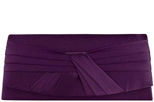 Emmy accessoires Joana Clutch/Abendtasche Violett mit Tragekette
