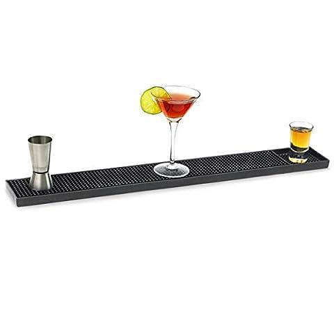 Rubber Bar Mat Large 24inch | bar@drinkstuff Rubber Bar Runner, Bar Top Saver