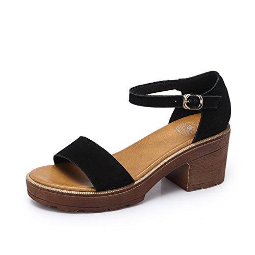 Studente estivo scarpe romane/Spessa con sandali con tacco alto B