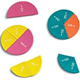 Learning Resources Soft Foam Magnetic Rainbow Fraction Circles