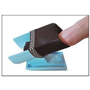 Sockenanziehhilfe & Ausziehhilfe für Senioren oder körperlich eingeschränkte Menschen – Sockenbutler für Socken, Strümpfe & Kompressionsstrümpfe jeder Art – Anziehhilfe blau