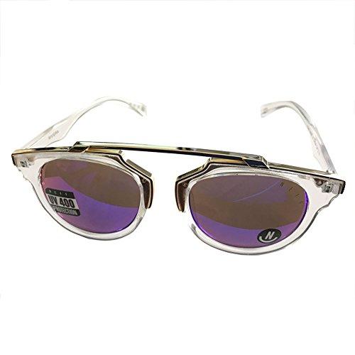 Neff Unisex Riviera Shades Sunglasses Clear Gold