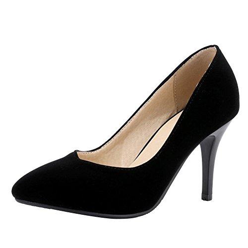 MissSaSa Donna Scarpe col Tacco Alto Elegante e Casual Nero