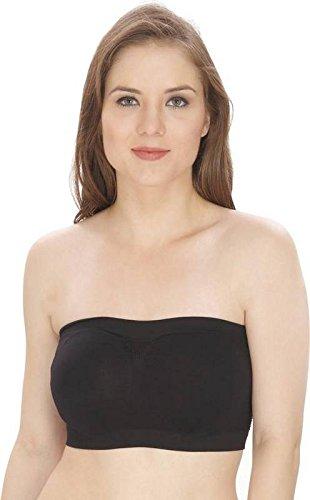 BoldnYoung women's tube bra, Black, Free size
