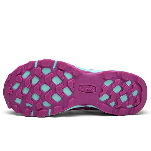 Sommer Outdoor Wasserdicht Wander Schuhe Damen Herren Sandale Atmungsaktiv Flach Trekking Kletter Sneaker Violett