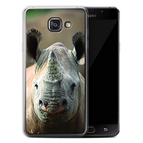 Hülle Für Samsung Galaxy A3 (2016) Wilde Tiere Nashorn Design Transparent Dünn Flexibel Silikon Gel/TPU Schutz Handyhülle Case