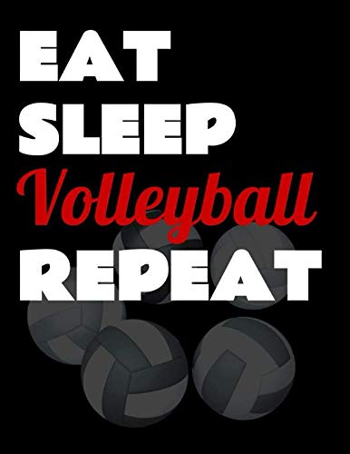 Eat Sleep Volleyball Repeat. Notebook for Volleyball Fans. Blank Lined Planner Journal Diary. por BBD Gift Designs