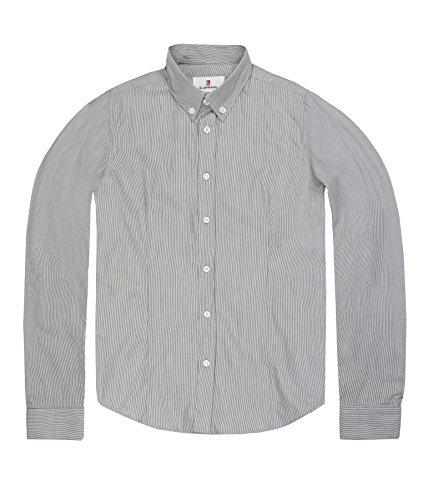 Lemmi Jungen Hemd 1/1 Arm mid, Gr. 128, Grau (phantom gray 1410) Preisvergleich