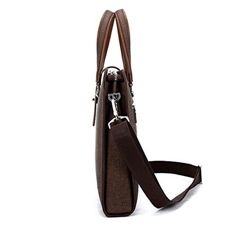 Mann-Geschäfts-Satz-Art- Und Weisegroßer Kapazitäts-Computer-Satz Einfache Handtaschen-Schulter-Schräge Black