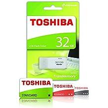Toshiba Hayabusa - Memoria USB 2.0 de 32 GB, color blanco