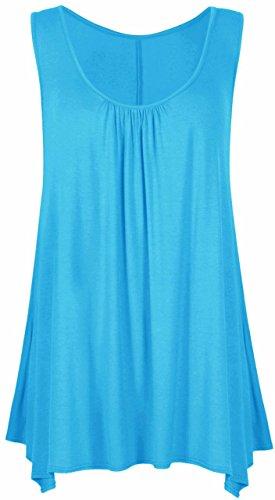 Sugerdiva - Robe - Plissée - Femme Noir noir 23-46 Turquoise
