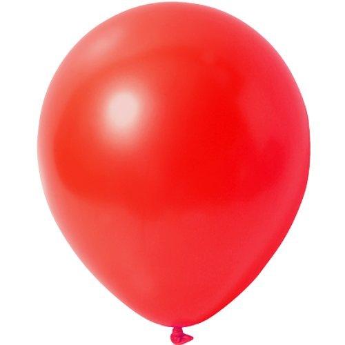 10 x Luftballons Metallic (Glänzend) Ø 30 cm | Freie Farbauswahl | 23 Ballon Farben | partydiscount24® (Rot)