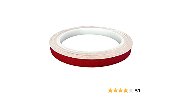 3M Reflektorband reflektierend selbstklebend Folie Reflexfolie Rot 10mm x 10m