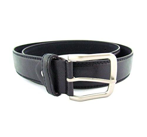 flevado XXL Gürtel schwarz extra langer Leder Gürtel Bundweite 140, 150, 160 cm Übergrößengürtel mit Dornschließe (140 cm Bundweite)