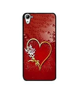 Casotec Love Rose Design Canvas Printed Soft TPU Back Case Cover for HTC Desire 826